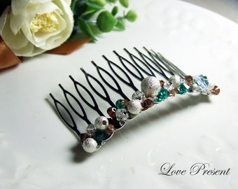 Glamour Chic Full Swarovski Crystal hair Comb Accessories (Large) (Custom Made)