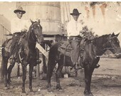 Real Photo Postcard,   Vintage  Photograph Men On Horses