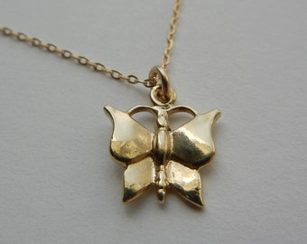 Little Butterfly Necklace (Gold)