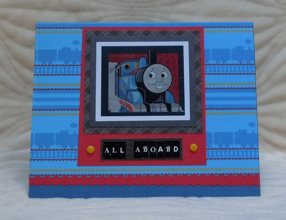 "Handmade ""Thomas the Tank Engine"" Birthday Card"
