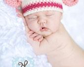 NEW Baby Girl Giraffe Hat  - ORGANIC