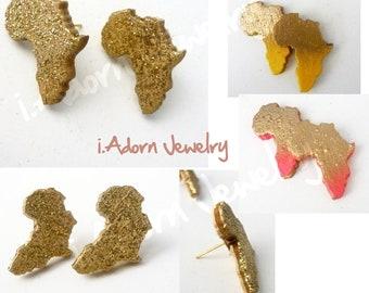 Mini Africa Stud Earrings-In Stock