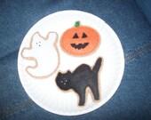 Felt Halloween Cookies