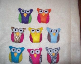 Mini Felt Owls