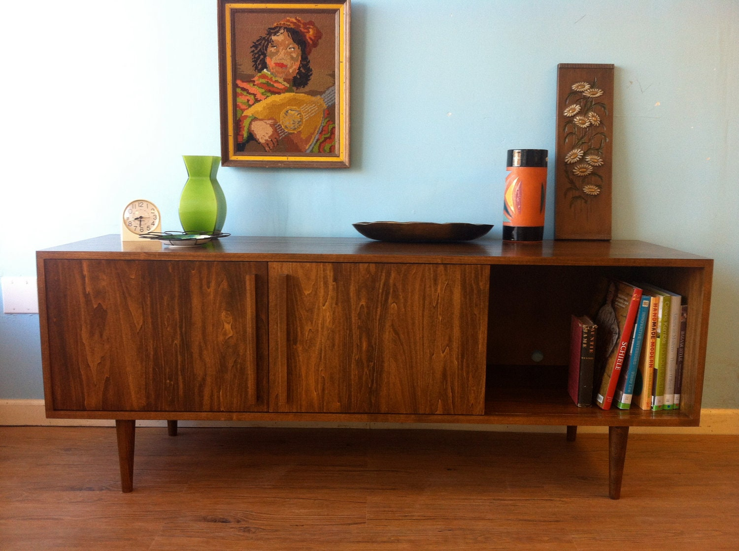 Walnut Kasse Credenza Tv Stand Custom For Nicole