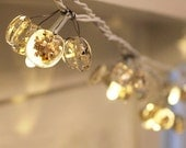 Christmas glass fairy lights with gold sprinkles