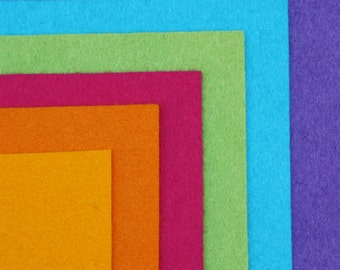 Jewel Wool Felt Palette - 12 x 12 in. Squares - 6 Sheets