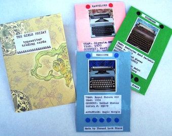 Typewriter trading cards - The Girls Friday - limited edition ATC set