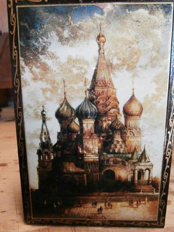 Russian Lacquer Tea Box RESERVED