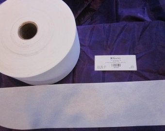 4 inch Poly Buckram  lite weight, sew on, yardage