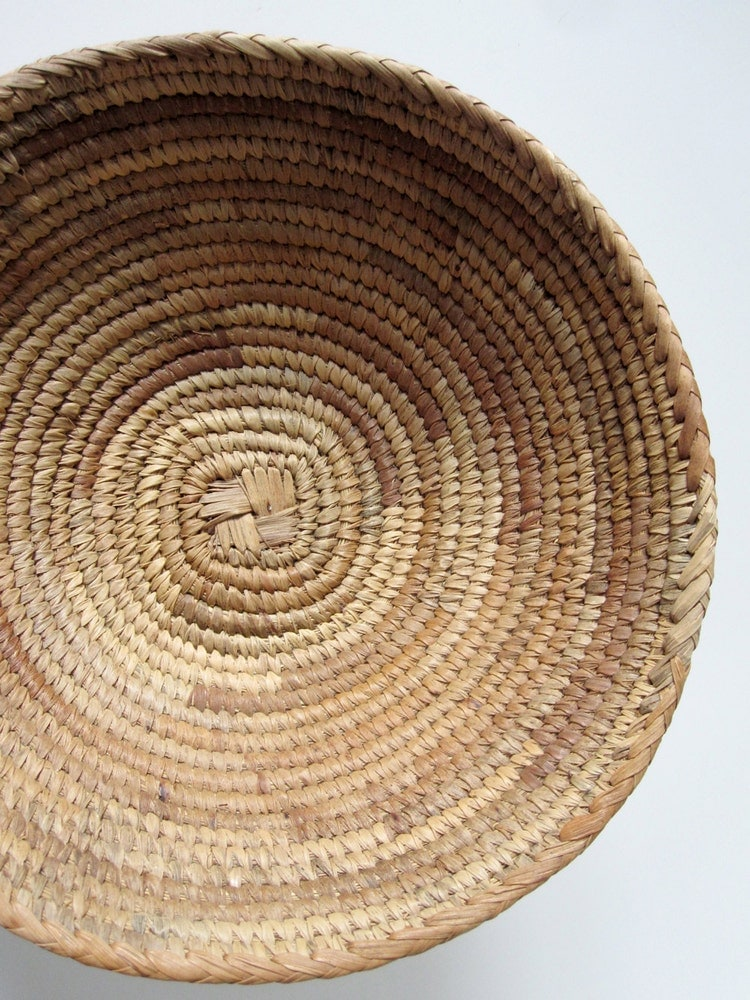 Sweetgrass Coiled Indian Basket Large 15 Inch By Modernpoetry