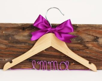 Flowergirl Ringbearer Hanger, Child's Personalized Wedding Hanger/ Flowergirl Hanger/Baby Shower Gift/47 ribbon colors
