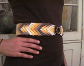 HUNTER, organic cotton hand woven stretch belt WIDE 5 color eco friendly summer fashion