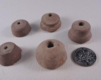 Five Postclassic Period Mexican Ceramic Spindle Whorls - Lot 2