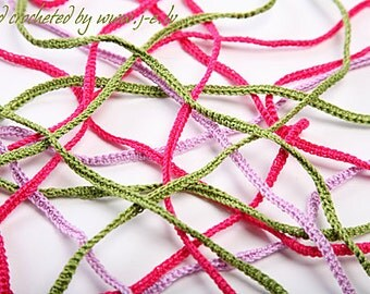 20 crochet hand made ribbons ropes jewelry making 1 meter long cotton hair band bracelet - choose any custom color mix & match