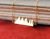 Gold Philly Skyline Necklace