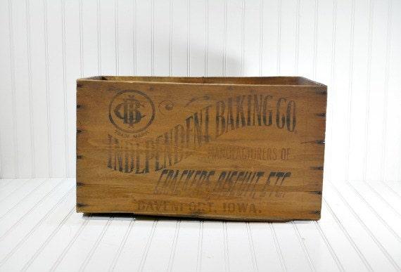 Vintage Wood Crate / Industrial Storage