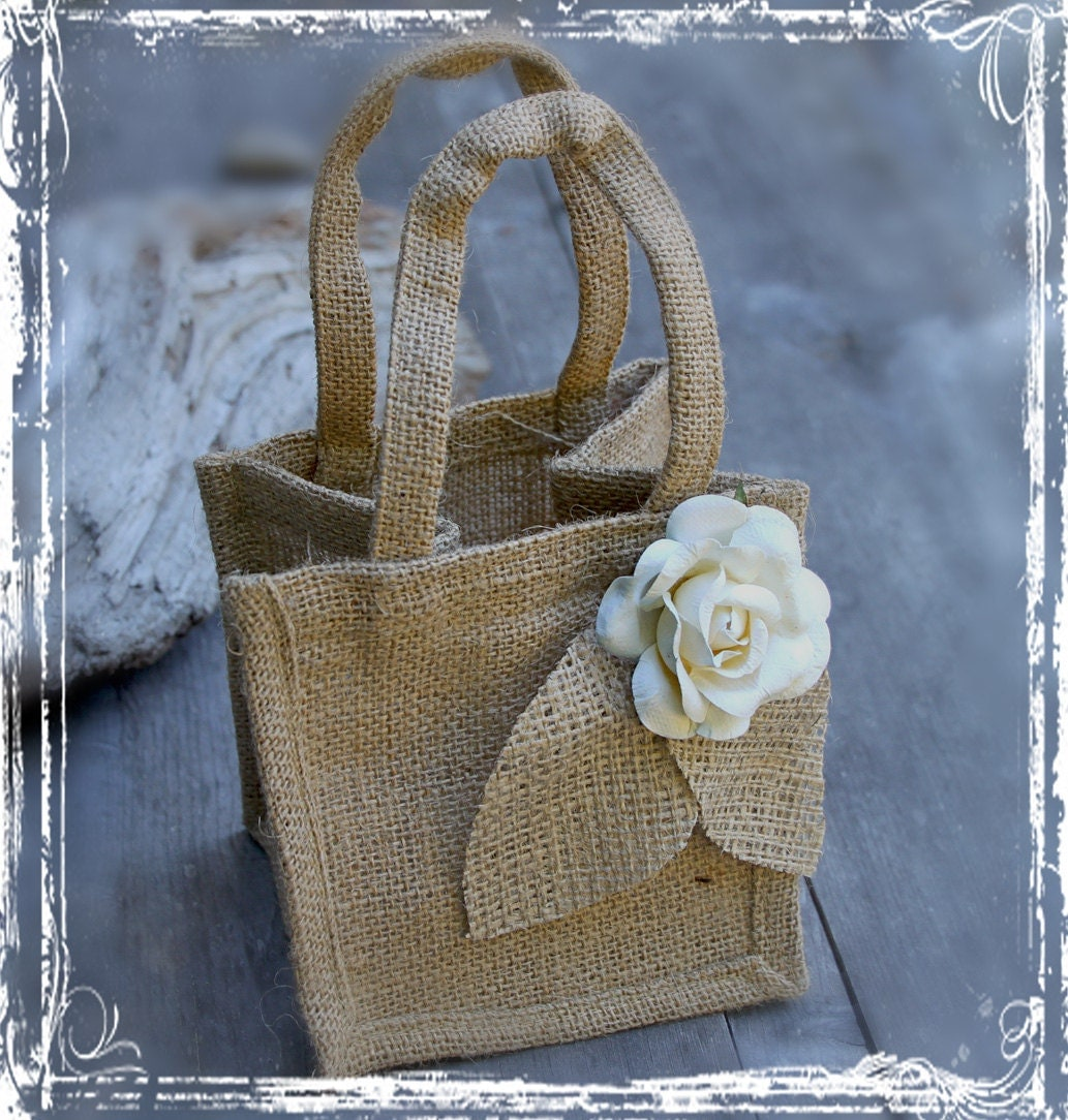 Rustic Burlap Flower Girl Baskets : Unavailable listing on etsy