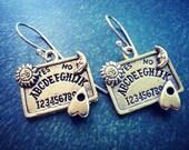 Ouija Board Earrings - Halloween Ouija Jewelry - Supernatural jewelry solid Brass