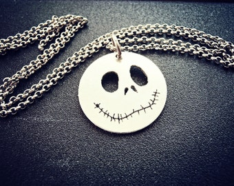 Jack The Pumpkin King Necklace - Halloween Silver Jewelry -  Nightmare Before Christmas Jewelry