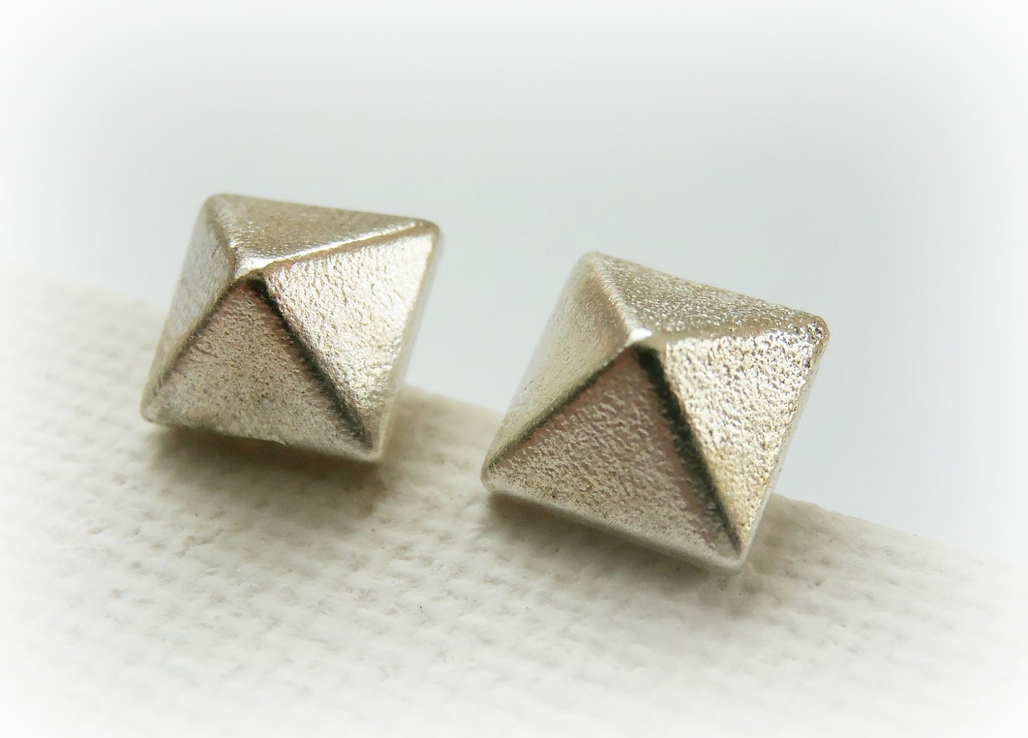 pyramid studs earrings pyramid stud earrings sterling silver small silver stud 2646