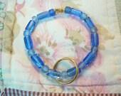 Glass Beaded Keychain Bracelet