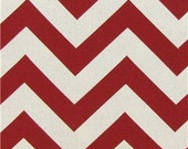 Custom for Stephanie Sticklen - Red Chevron Stripe Pillow Covers (4)