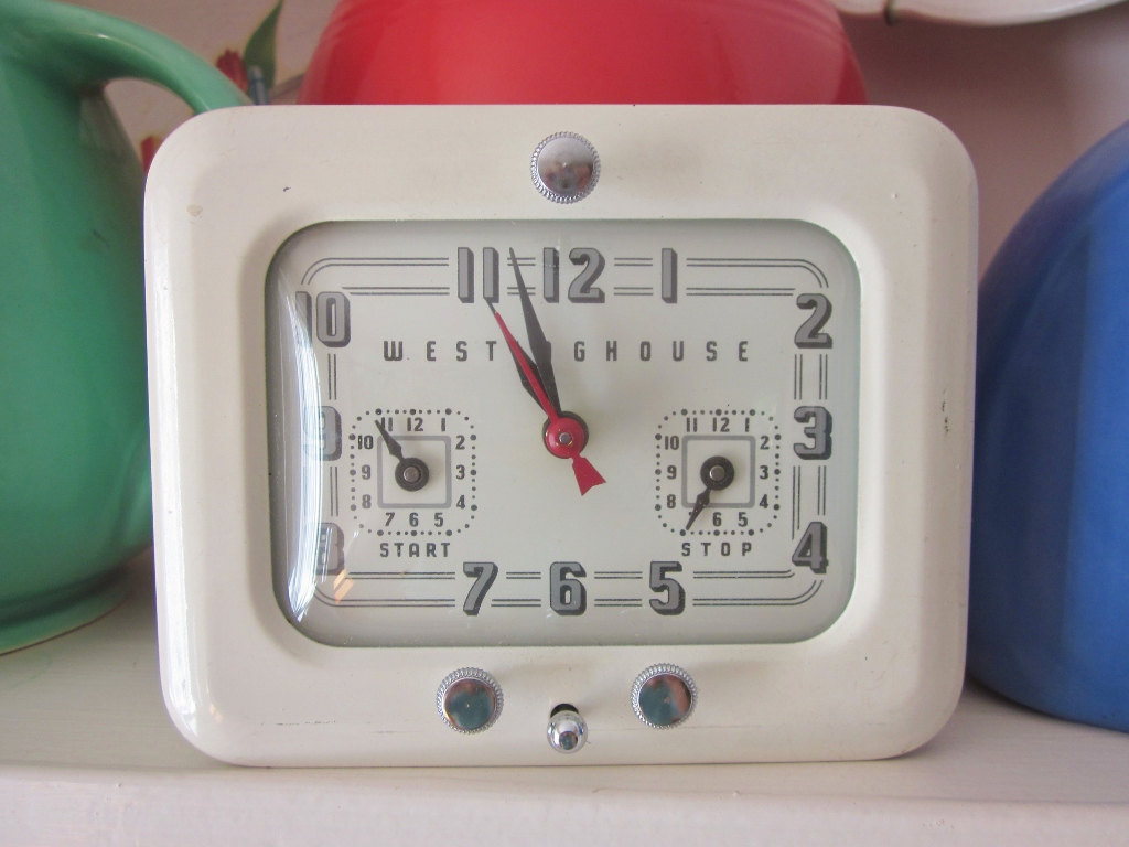 Vintage Kitchen Clock And Timer Westinghouse Clock With