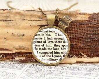 """Jane Eyre """"Love"""" - Literature Necklace"""
