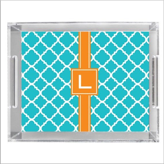 """Personalized Lucite Tray - 8"""" x 11"""""""