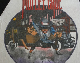 Original MOTLEY CRUE vintage California 1985 tour tshirt