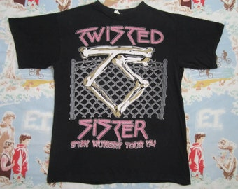 Original TWISTED SISTER vintage 1984 tour TSHIRT