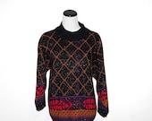 Vintage Sweater Diamonds with Purple Snow