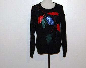 Vintage Sweater Black with Metallic