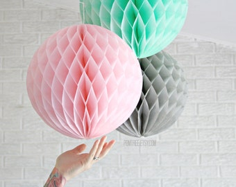 paper party decor ...  JUMBO honeycomb lantern ... candy table buffet tablescape // weddings // birthday party // baby shower // nursery