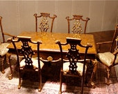 Dollhouse dining table and chairs, The Manse