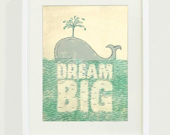 Dream Big Typography Art Print // 8x10