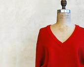 Dior Sweater / Vintage Christian Dior Red Sweater