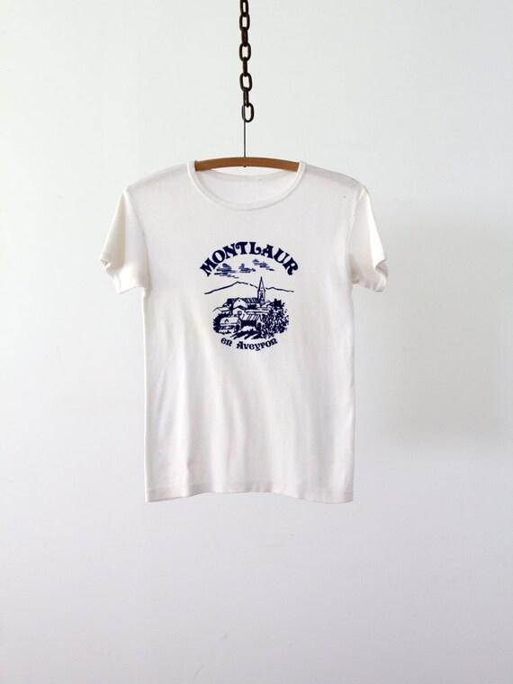 RESERVE:  1970s French T-Shirt / Montlaur en Aveyron