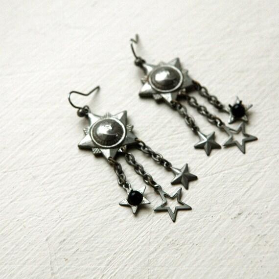 Star Drop Earrings // Vintage Southwestern Earrings