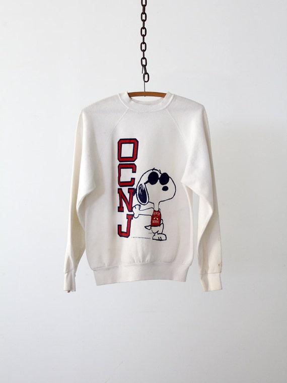 Vintage Snoopy Sweatshirt // Vintage OCNJ Beach Patrol Shirt