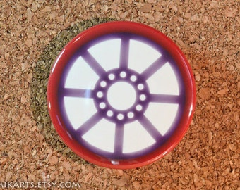 Iron Man Arc Reactor Original Design Pin-back Button or Magnet
