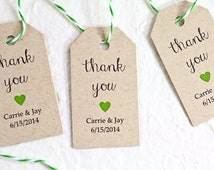 Wedding Gift Engraving Etiquette : Personalized Wedding Favor Tags, Kraft Paper, Rustic Favors, Gift Tag ...