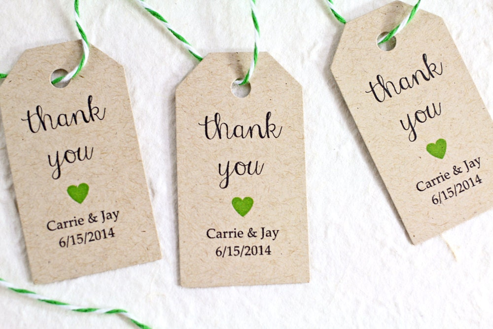 Wedding Gift Bag Thank You Tags : Personalized Wedding Favor Tags Kraft Paper Rustic by iDoTags