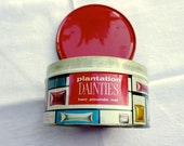 Christmas Candy or Cookie Tin  - Vintage Holiday Decor - Mid Century Plantation Dainties Candies