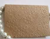 Kraft Snowflake Embossed Note Cards Winter/Holidays/Christmas Cards Set of 25