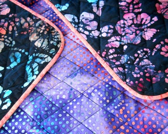 Flowers Throw / Lap Quilt