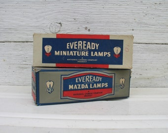 Vintage Automotive Headlight Replacement Bulbs Eveready Mazda Lamps