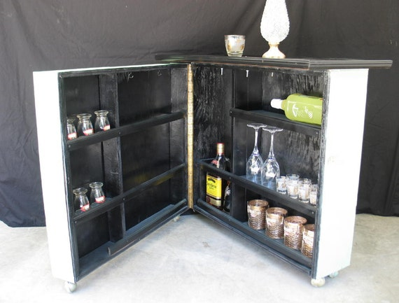 Vintage Rolling Mini Bar or Storage Cart