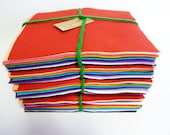 Large Felt Squares Rainbow world 17 pieces  perfect felt for all your crafting needs